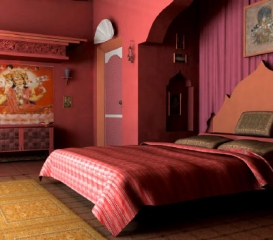 Styl etniczny e aran for Bedroom designs indian style
