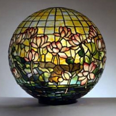 Pond Lily Globe, Louis Comfort Tiffany
