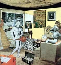 "Richard Hamilton, ""Just what is it that makes today-s homes so different, so appealing?"", źródło: www.artknowledgenews.com"