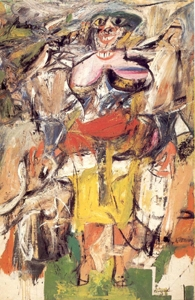 Willem de Kooning, Woman and Bicycle, 1952, źródło: www.students.sbc.edu