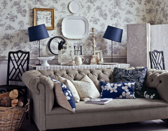 Living Room Winter Decorating Housetohomecouk English Country Living