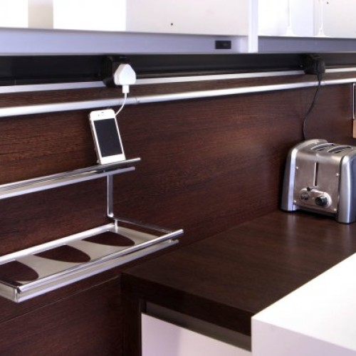 Kitchen Dark Wood UK Sockets